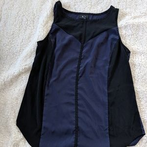 Mossimo Black and Navy Top